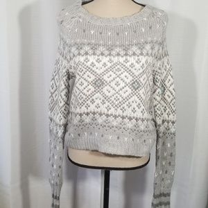 Aeropostale knitted grey sweater. Size M.  NWT